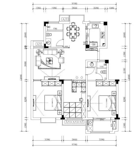 南通装修案例瑞祥香郡业主,B2户型优雅简欧风已发布